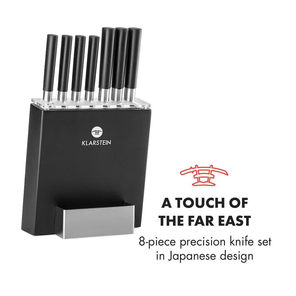 Klarstein Messer-Set mit Block Präzisionsklingen