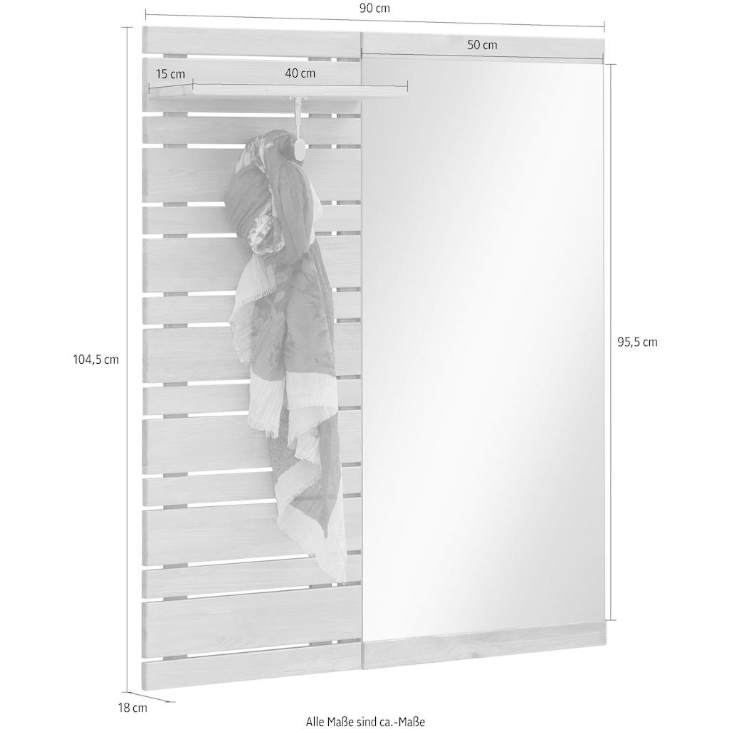 Home affaire Garderobenpaneel »Jossy«, mit Spiegel, Breite 90 cm