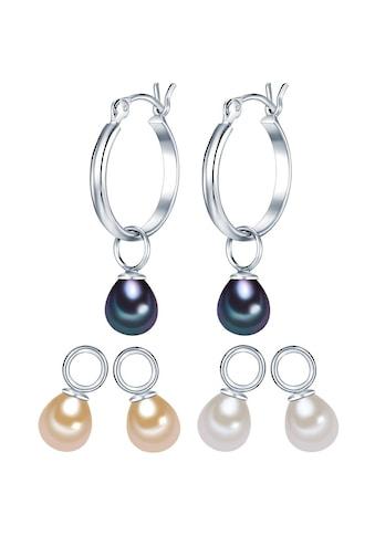 Valero Pearls Perlenohrringe »Set: A1422«, (6 tlg.), aus Süßwasser-Zuchtperlen kaufen