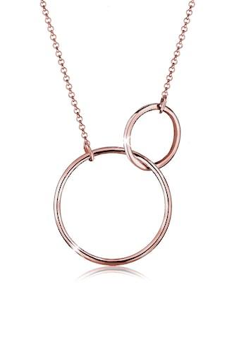 Elli Kette mit Anhänger »Kreis Rund Ring Schlicht 925 Silber« kaufen