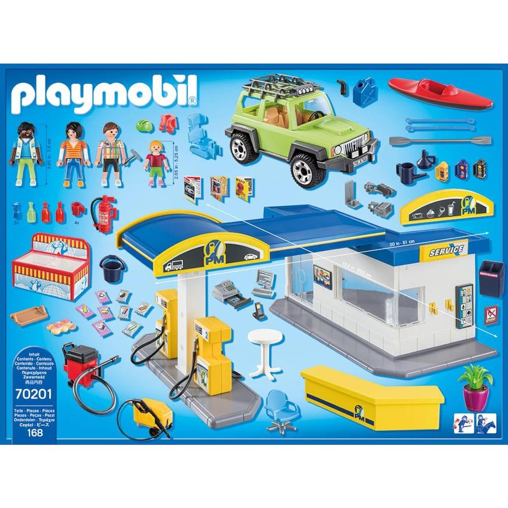 Playmobil® Konstruktions-Spielset »Große Tankstelle (70201), City Life«, (168 St.), Made in Europe