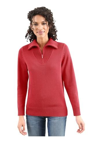 Casual Looks Pullover mit sportivem Troyerkragen kaufen