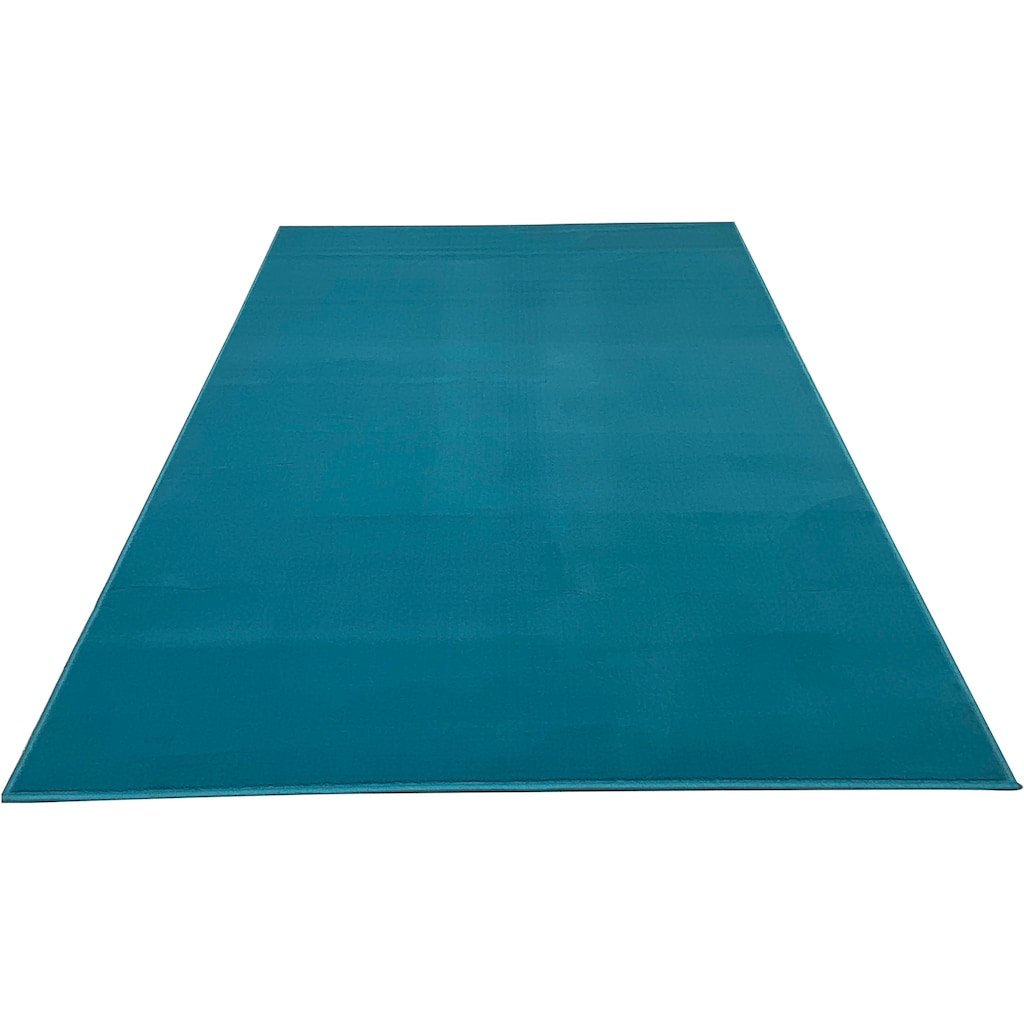 my home Teppich »Paddy«, rechteckig, 7 mm Höhe, Uni Teppich, Wohnzimmer