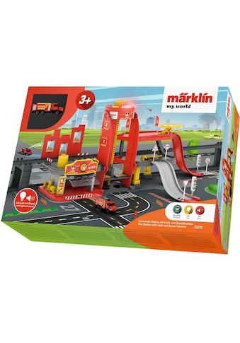 Märklin Modelleisenbahn-Gebäude »Märklin my world - Feuerwehr Station mit Licht- und... kaufen