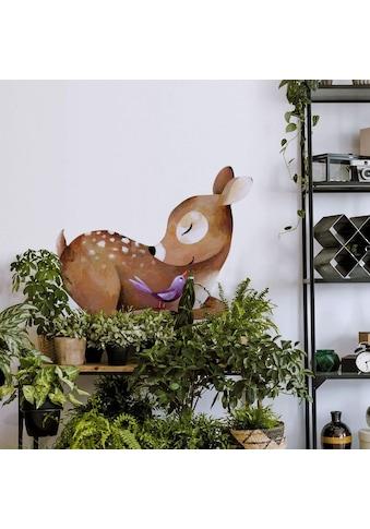Wall-Art Wandtattoo »Märchenhaft Reh liegend mit Vöglein« kaufen