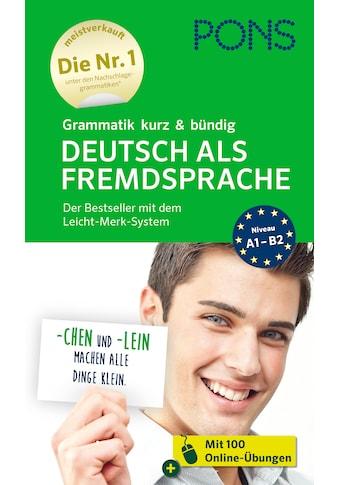 Buch »PONS Grammatik kurz & bündig Deutsch als Fremdsprache / DIVERSE« kaufen