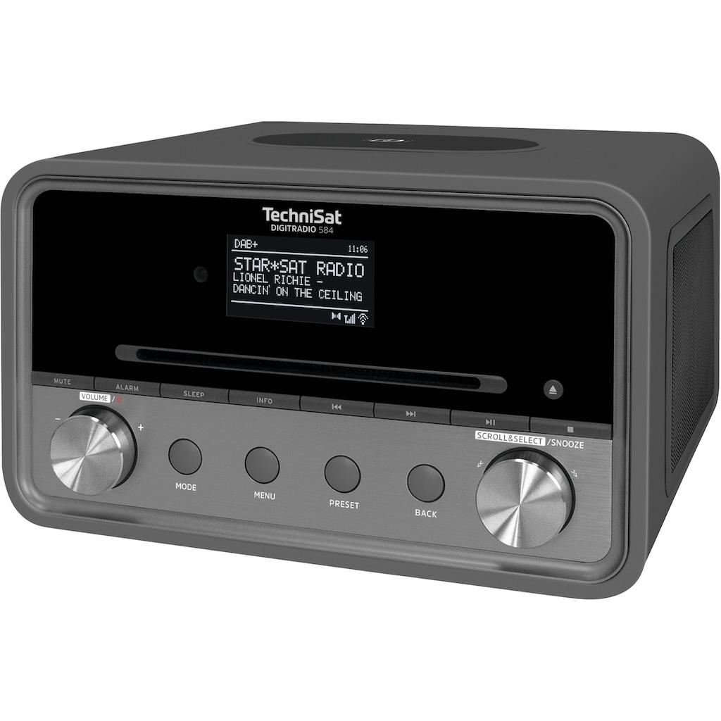 TechniSat Internet-Radio »DIGITRADIO 584 Stereo«, (Bluetooth-WLAN Digitalradio (DAB+)-UKW mit RDS-Internetradio), CD, Bluetooth, Farbdisplay, USB, Wireless Charging, Alexa-Sprachsteuerung