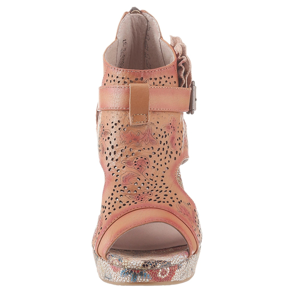 LAURA VITA Sandalette »Hicao«, mit seitlicher Zierblüte