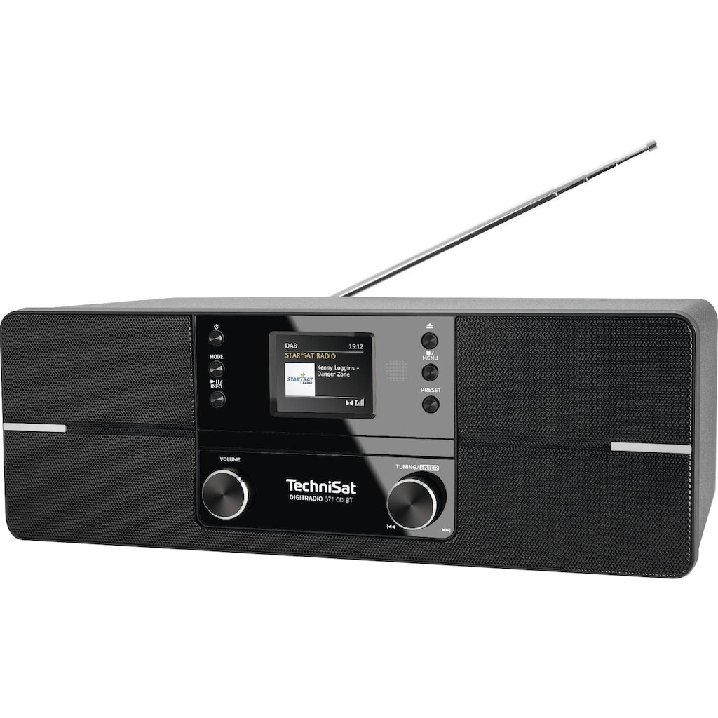 TechniSat Digitalradio (DAB+) »DIGITRADIO 371 CD BT Stereo«, (Bluetooth UKW mit RDS-Digitalradio (DAB+), CD, Bluetooth, Farbdisplay, USB