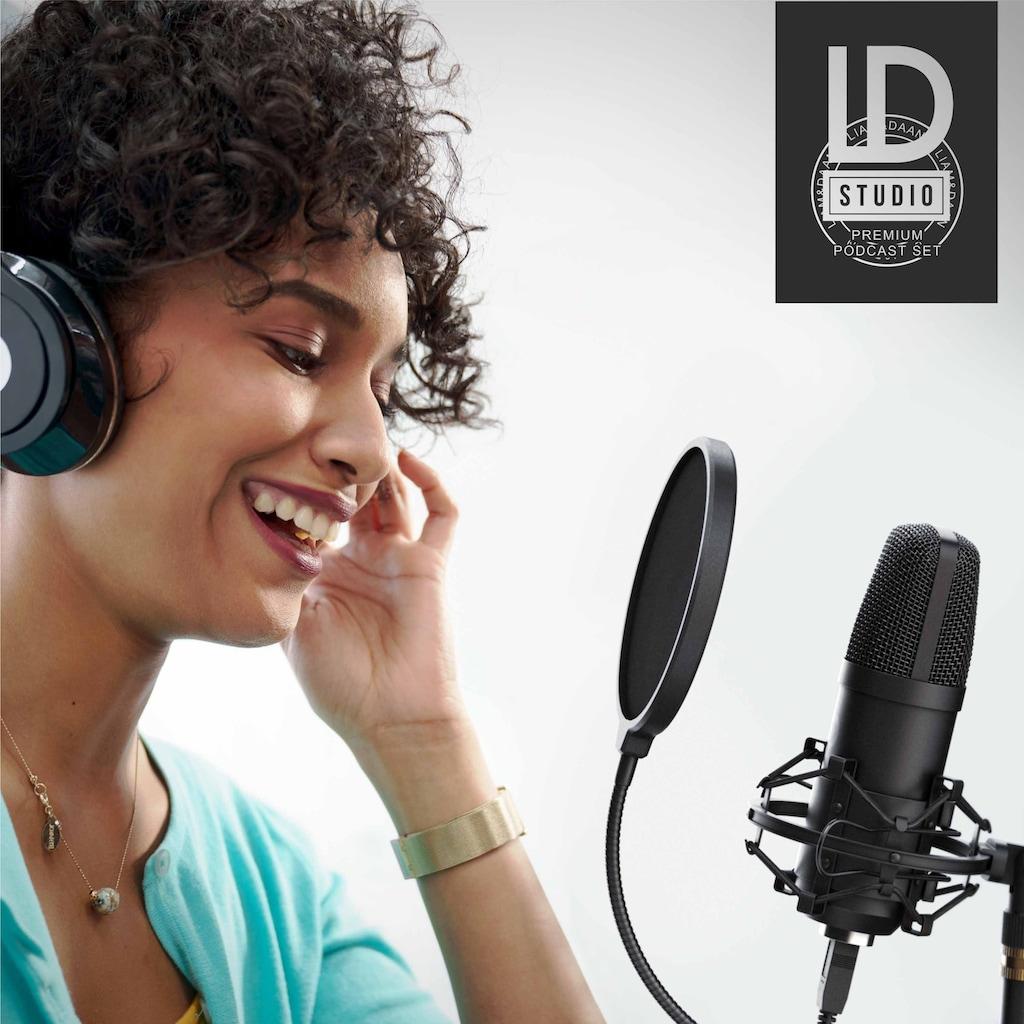 LIAM&DAAN Profi Podcast Set - USB Studiomikrofon »Großmembran Kondensatormikrofon«
