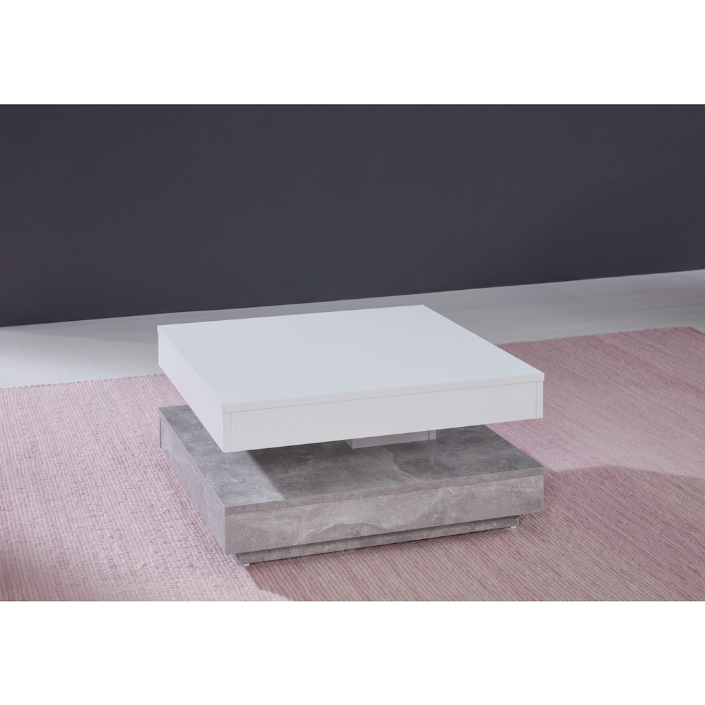 trendteam Couchtisch, mit Funktion, drehbare Tischplatte