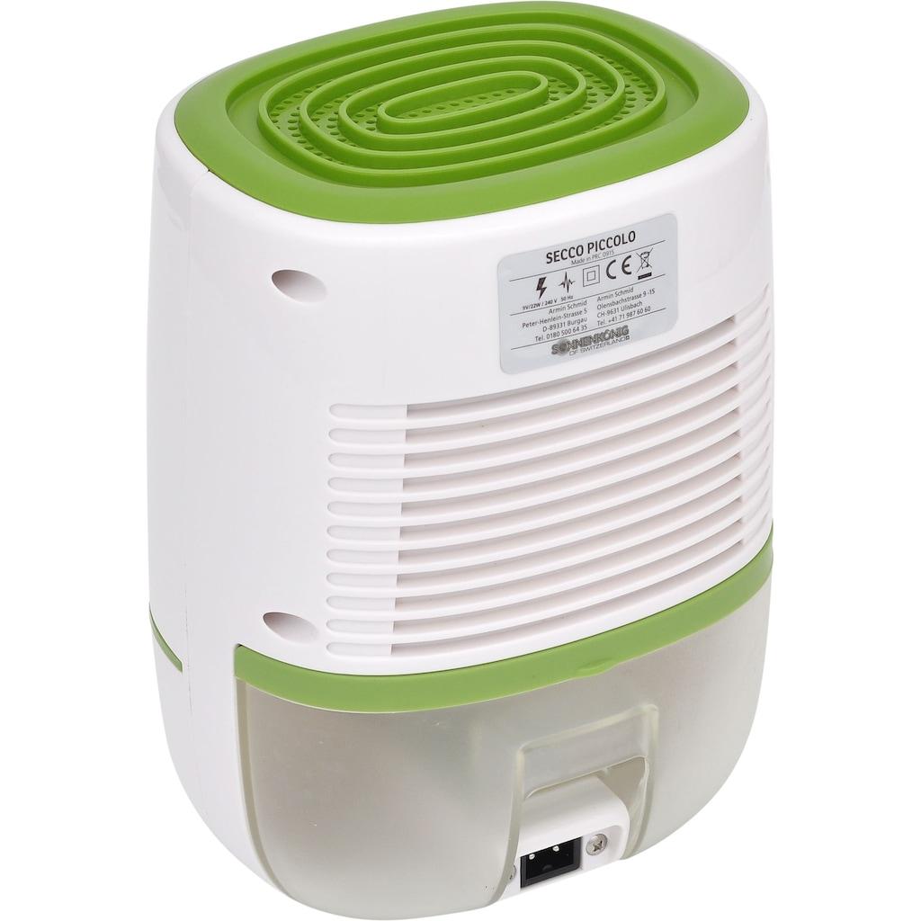 Sonnenkönig Luftentfeuchter »10100151 / Secco Piccolo Grün«, für 25 m³ Räume, Entfeuchtung 0,22 l/Tag, Tank 0,6 l