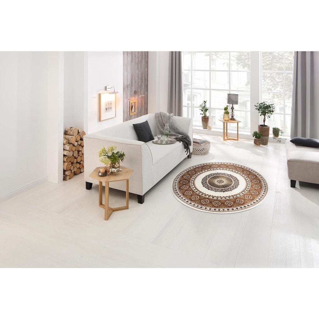 DELAVITA Teppich »Shari«, rund, 7 mm Höhe, Orient - Dekor, Wohnzimmer