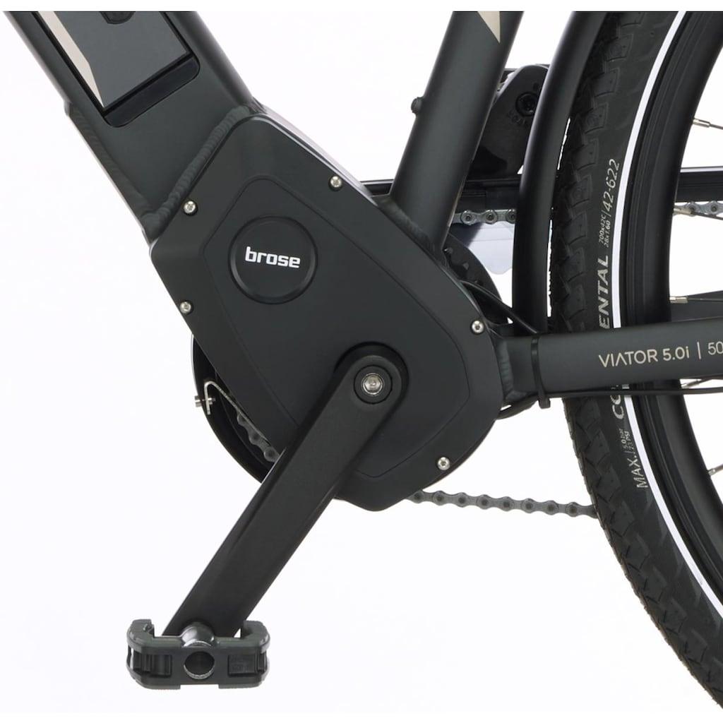 FISCHER Fahrräder E-Bike »VIATOR H 5.0i«, 10 Gang, SRAM, GX10, Mittelmotor 250 W