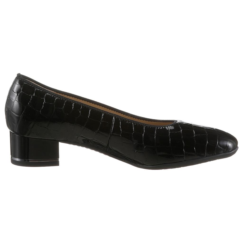 Ara Pumps »GRAZ«, mit Reptilprägung, Schuhweite: weit