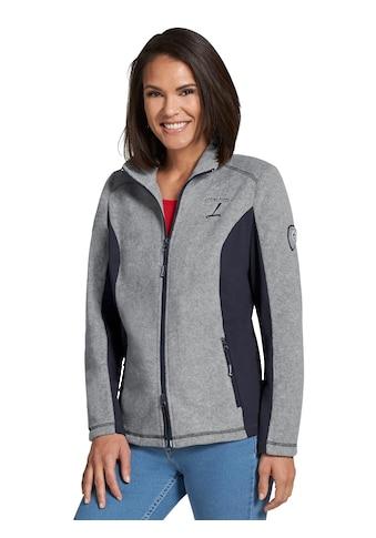 Casual Looks Fleece - Jacke mit elastischen Kontrasteinsätzen seitlich kaufen
