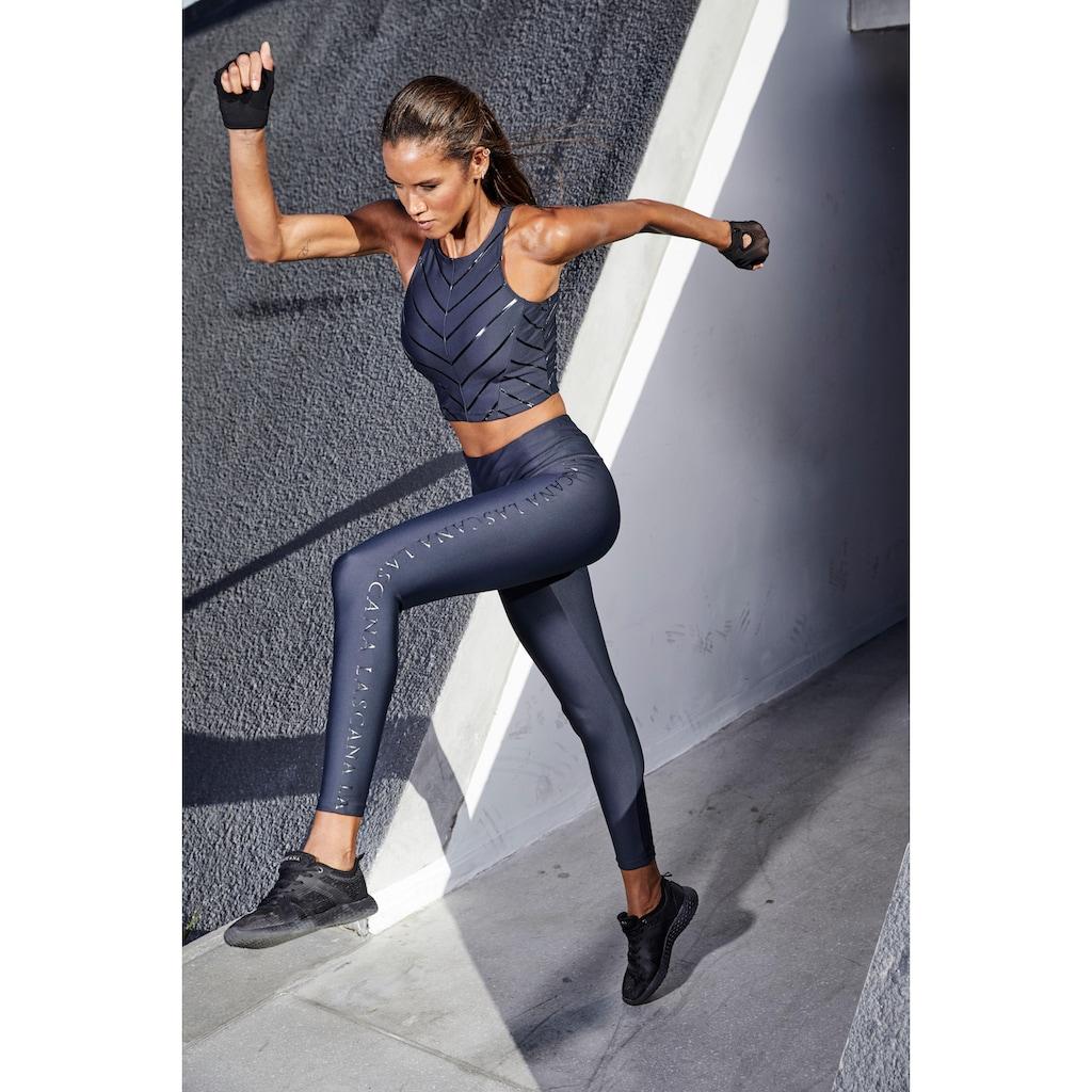 LASCANA ACTIVE Leggings, mit glänzendem Logoschriftzug