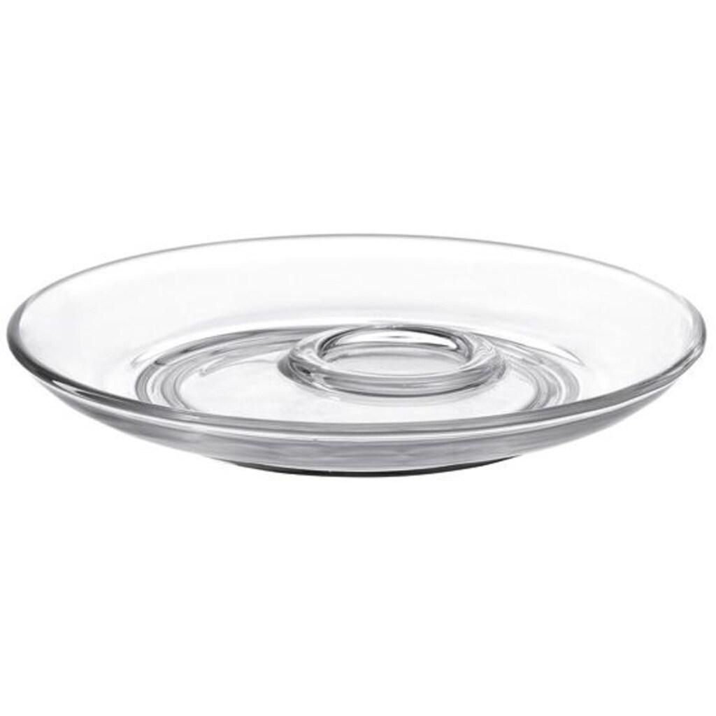 LEONARDO Untertasse »SENSO«, (Set), Glas, Ø 14 cm