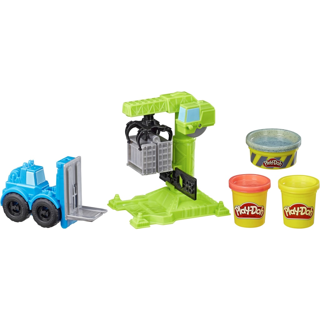 Hasbro Knete »Play-Doh Wheels Kran & Gabelstapler«