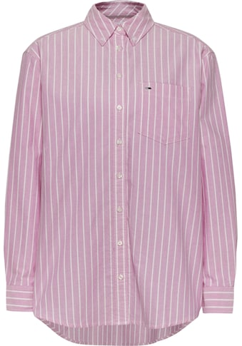 Tommy Jeans Hemdbluse »TJW RELAXED STRIPE SHIRT«, mit abgerundetem Saum kaufen