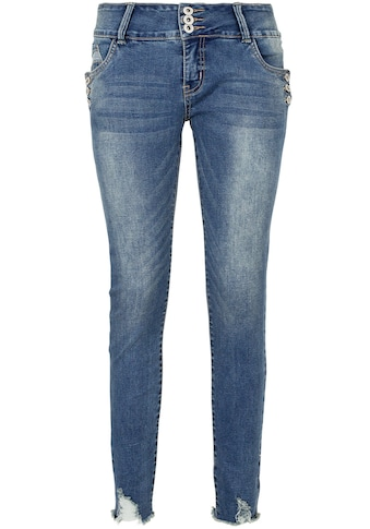 SUBLEVEL Skinny-fit-Jeans, mit Knopfdetail kaufen