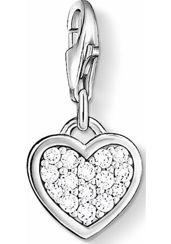 THOMAS SABO Charm-Einhänger »Herz, 0967-051-14«, mit Zirkonia kaufen