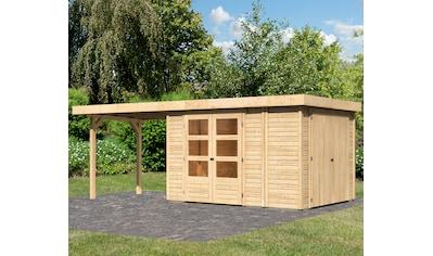 KONIFERA Set: Gartenhaus »Ostsee 3«, BxT: 603x238 cm, mit Anbauschrank und Anbaudach kaufen