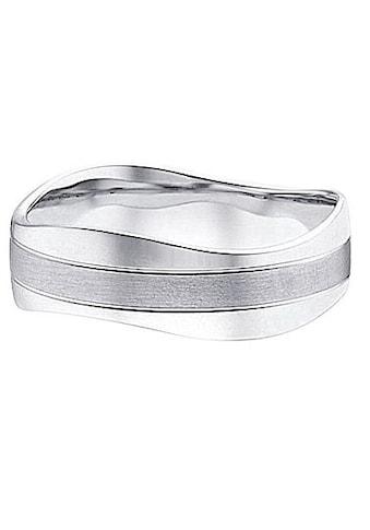 Firetti Trauring mit Gravur »7,0 mm, glanz, seidenmatt, Diamantschnitt, Wellenform« kaufen