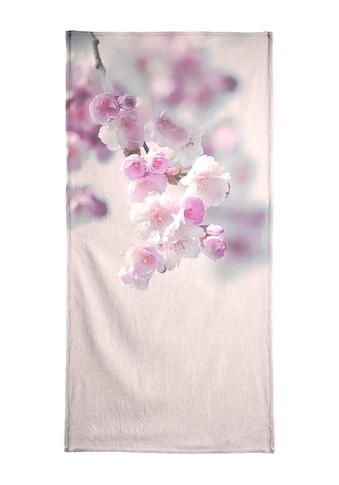 Juniqe Strandtuch »Pastel Rose Cherry II«, (1 St.), Weiche Frottee-Veloursqualität kaufen
