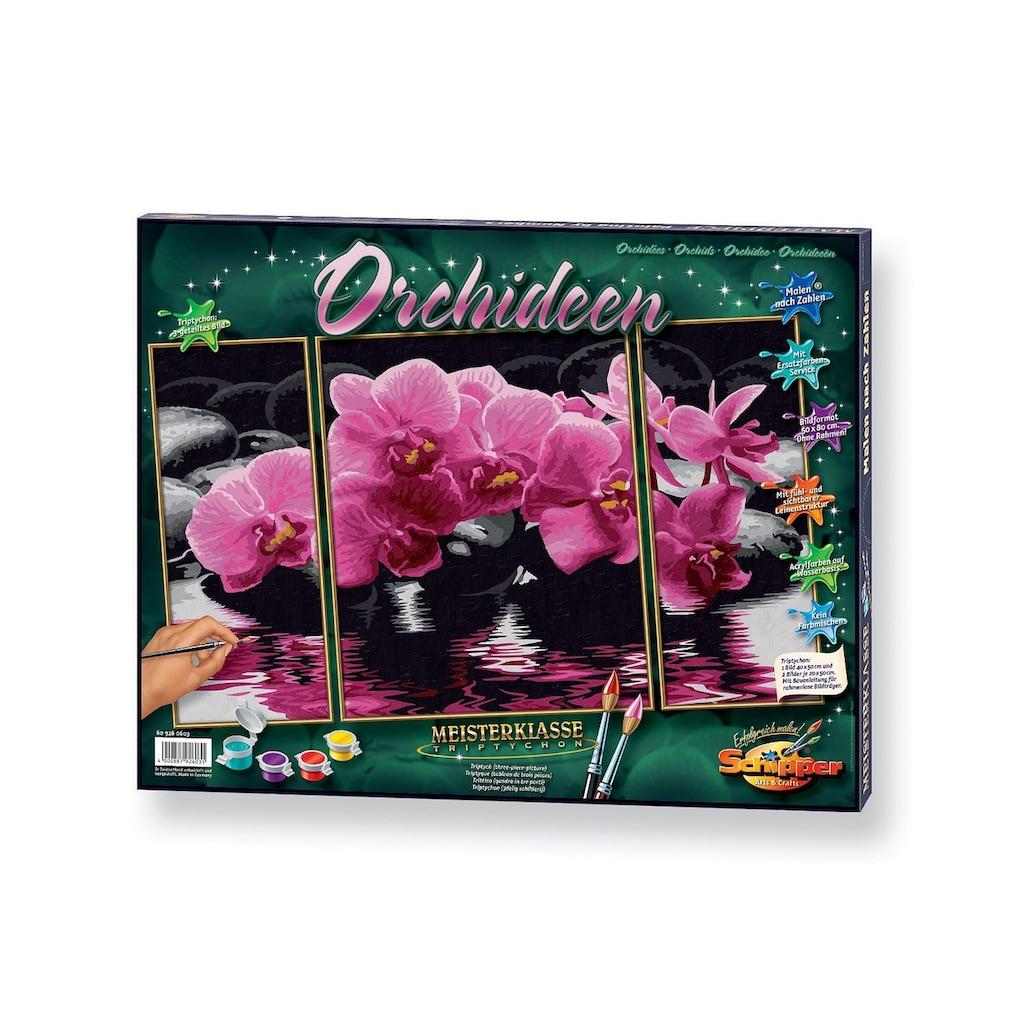 Schipper Malen nach Zahlen »Triptychon - Orchideen«, Made in Germany