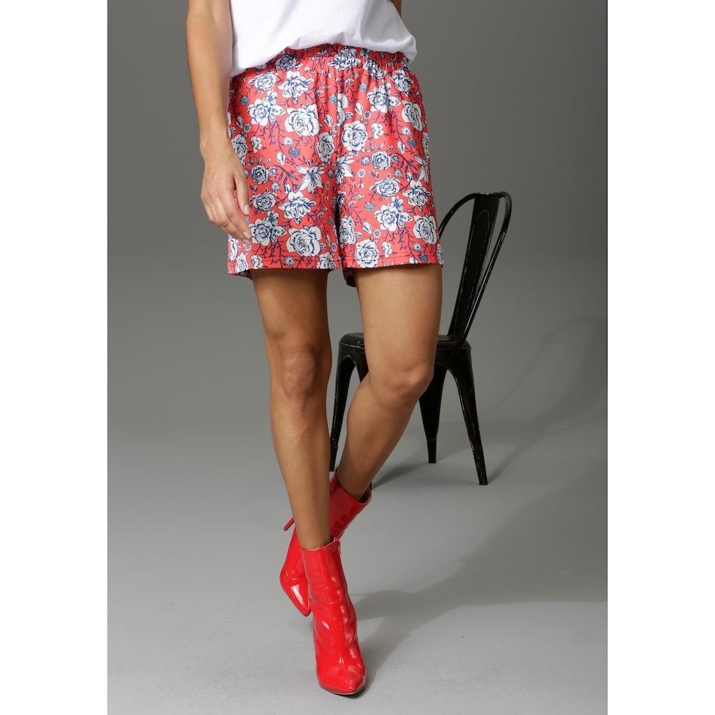 Aniston CASUAL Shorts, in 2 unterschiedlichen Druckvarianten
