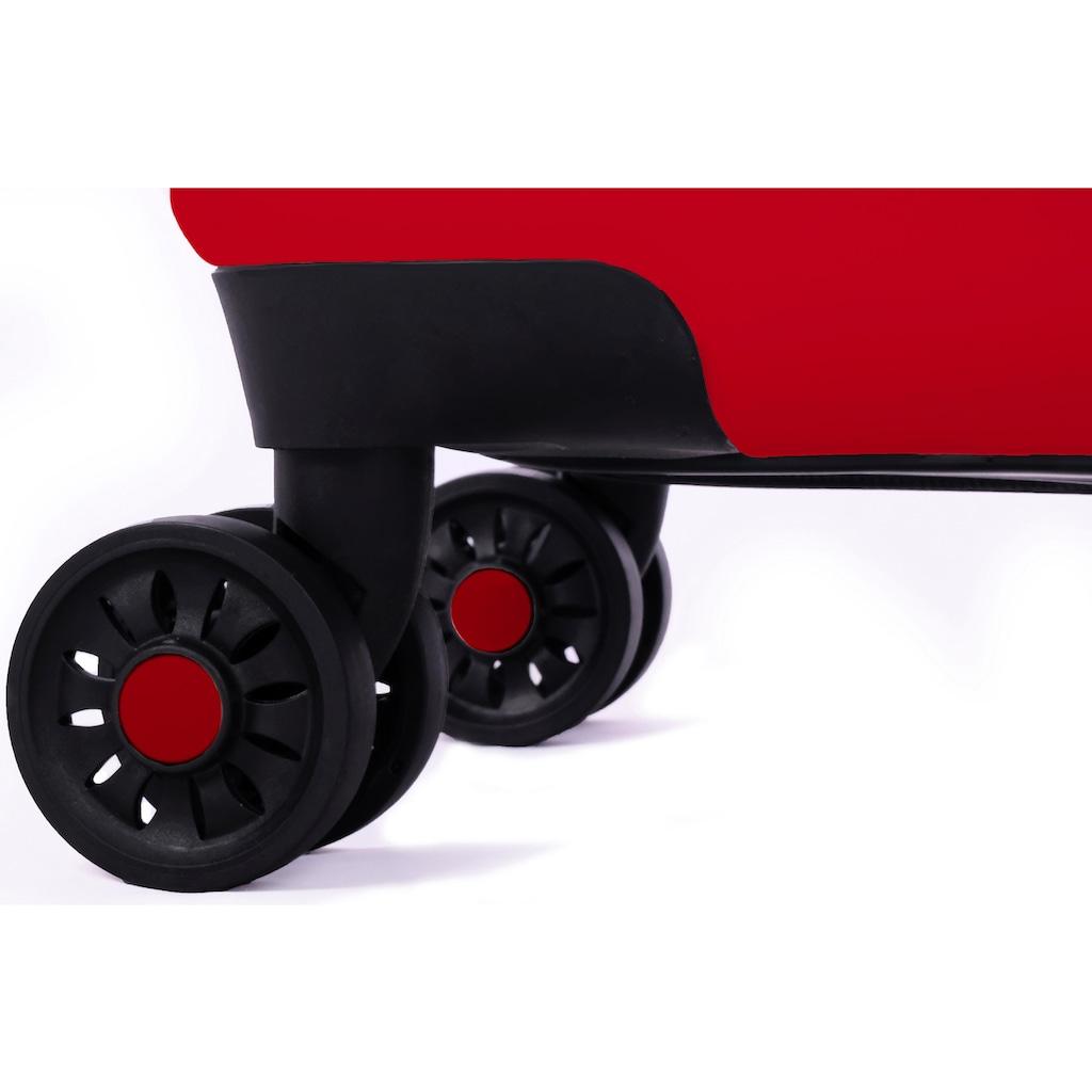 meinTrolley Hartschalen-Trolley »Love wins gestreift, 55cm«, 4 Rollen, Made in Germany