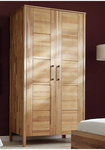 Home affaire Kleiderschrank »Modesty II«, aus schönem massivem Kernbuchenholz, in... kaufen