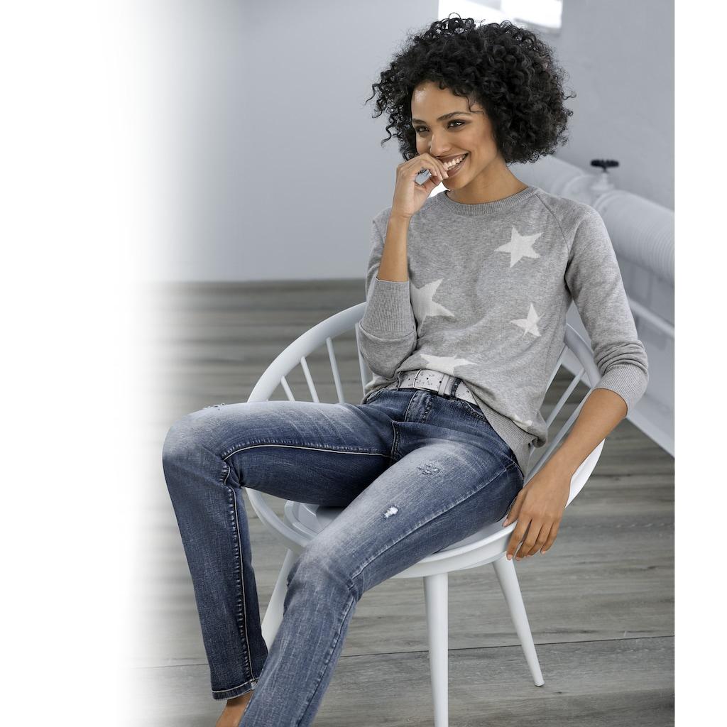 LINEA TESINI by Heine Skinny-fit-Jeans, mit Destroyed-Effekt