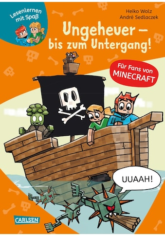 Buch »Lesenlernen mit Spaß - Minecraft 4: Ungeheuer - bis zum Untergang! / Heiko Wolz,... kaufen