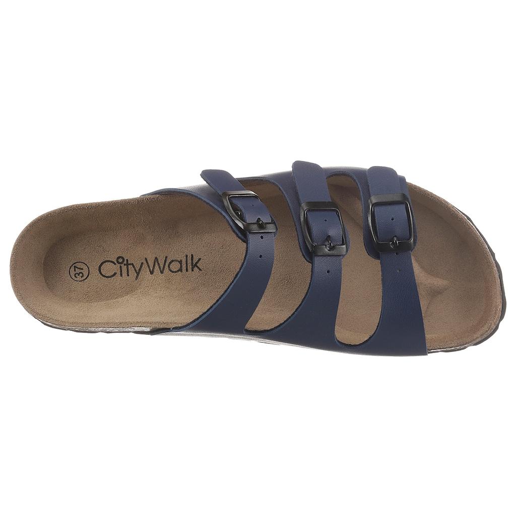 CITY WALK Pantolette, mit Veloursleder-Fußbett