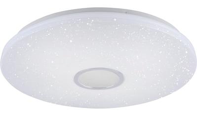 Leuchten Direkt Deckenleuchte »JONAS«, LED-Board, Warmweiß-Neutralweiß-Tageslichtweiß, stufenloses Dimmen über IR-Fernbedienung, Sternenhimmeloptik, Memoryfunktion, Ø 59 cm kaufen