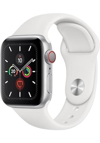Watch Series 5 GPS, Aluminium silber, 40 mm mit Sportarmband, Apple kaufen