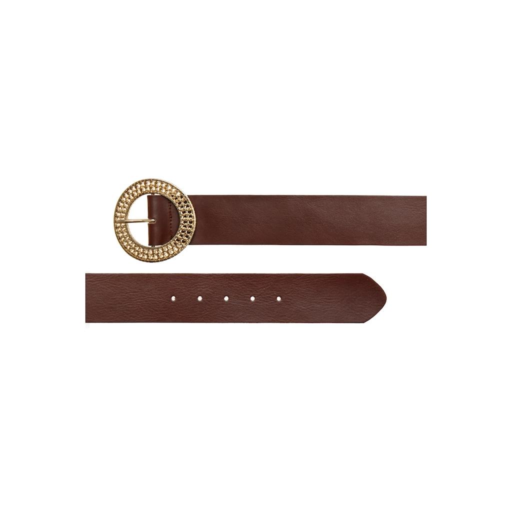 LASCANA Taillengürtel, aus Leder mit dekorativer Zierschnalle