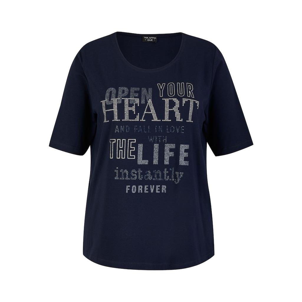VIA APPIA DUE T-Shirt, mit geschmückter Schrift
