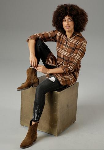 Aniston CASUAL Longbluse, im Karo-Dessin - NEUE KOLLEKTION kaufen