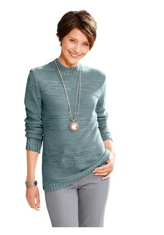 Casual Looks Pullover aus weichem Melange - Garn kaufen