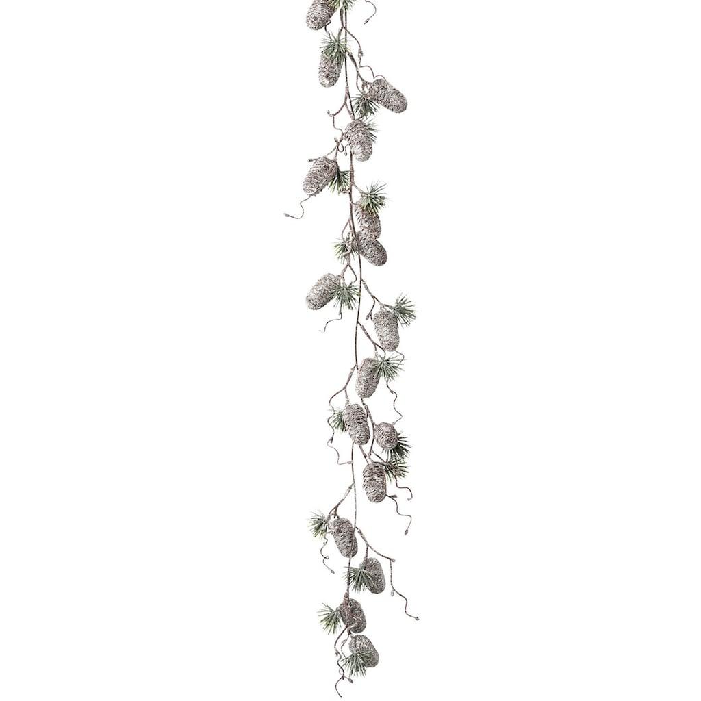 LeGer Home by Lena Gercke Kunstgirlande »Jade«, mit Zapfen in gefrosteter Optik, Länge ca. 127 cm