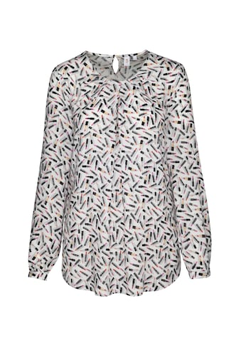 seidensticker Shirtbluse »Schwarze Rose«, Langarm Rundhals Print kaufen