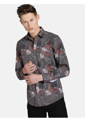 SHIRTMASTER Langarmhemd »rushofcolour«, mit Print im Patchwork Stil kaufen