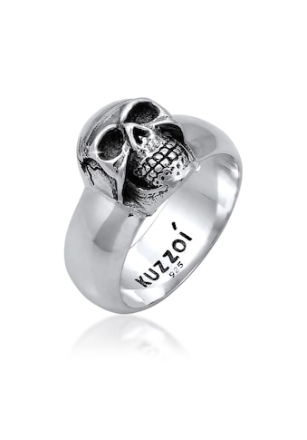 Kuzzoi Siegelring »Herren Siegelring Totenkopf Oxidiert 925er Silber« kaufen