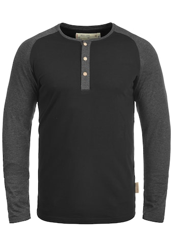 Indicode Rundhalsshirt »Winston«, Longsleeve im Baseball-Look kaufen