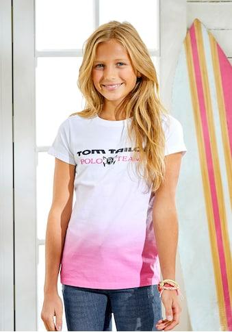 TOM TAILOR Polo Team T-Shirt, mit modischem Farbverlauf kaufen