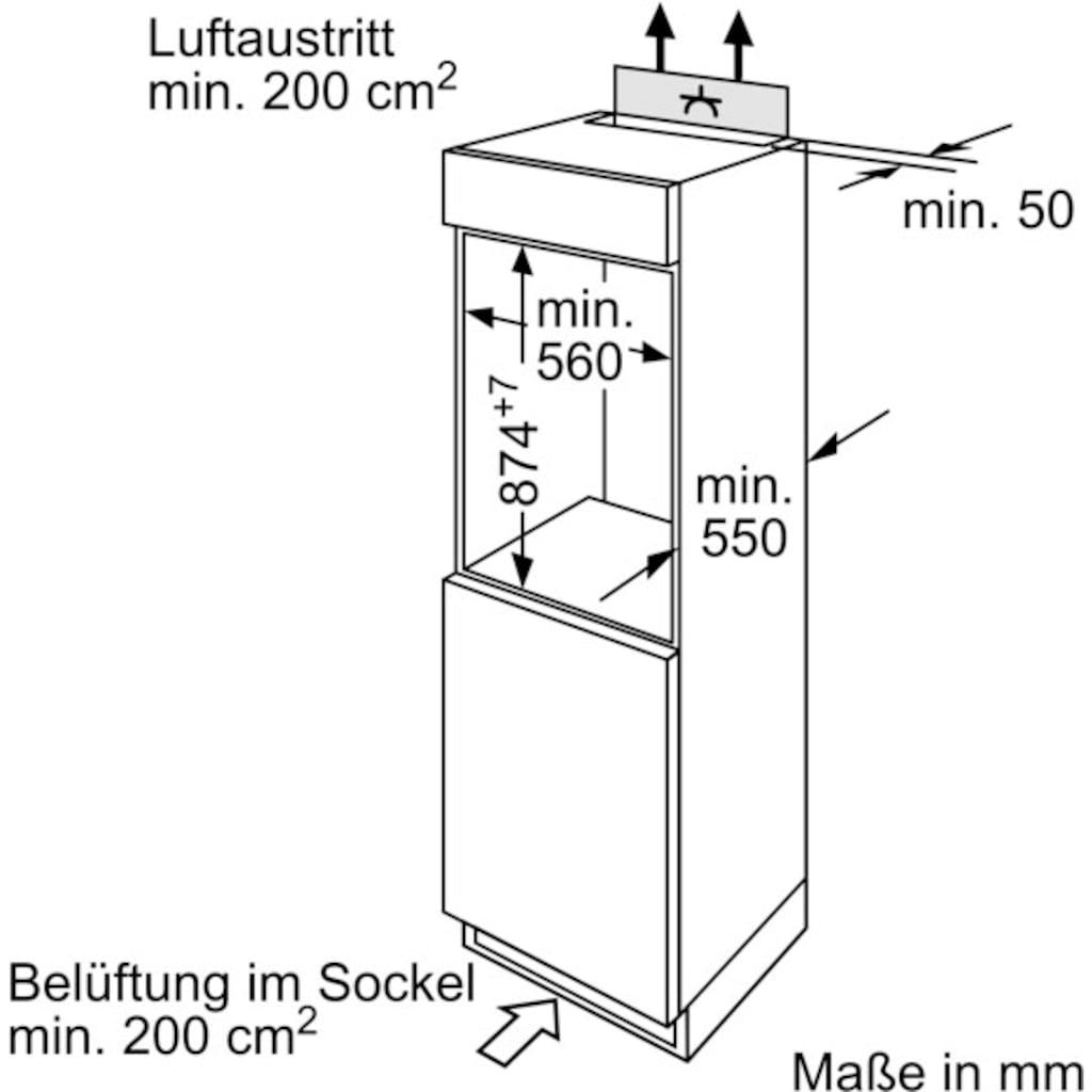 BOSCH Einbaukühlschrank »KIR18NSF0«, 2