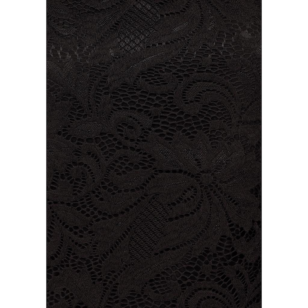 Melrose Spitzentop, mit Zierschnalle